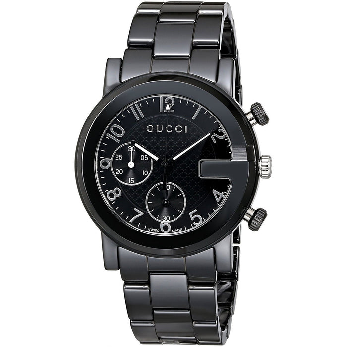 Gucci Men's YA101352 G-Chrono Chronograph Black Ceramic Watch