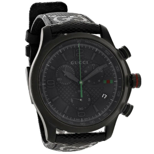 Gucci Men's YA126244 G-Timeless Chronograph Black Fabric Watch