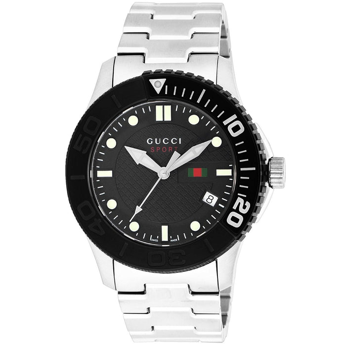 Gucci Men's YA126249 G-Timeless Stainless Steel Watch