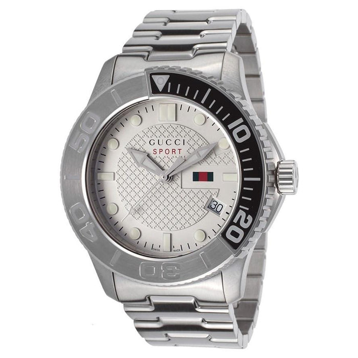 Gucci Men's YA126252 G-Timeless Stainless Steel Watch