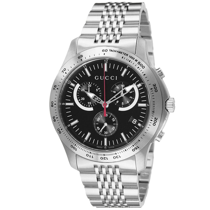 Gucci Men's YA126254 G-Timeless Chronograph Stainless Steel Watch