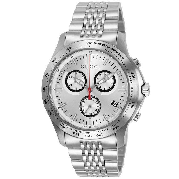 Gucci Men's YA126255 G-Timeless Chronograph Stainless Steel Watch