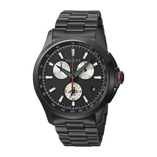 Gucci Men's YA126268 G-Timeless Black Stainless Steel Watch