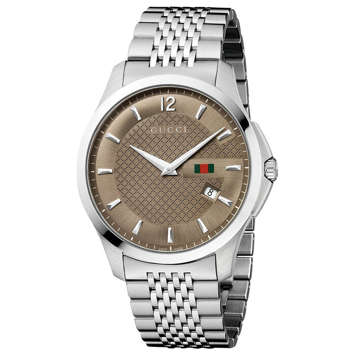 Gucci Men's YA126310 G-Timeless Stainless Steel Watch