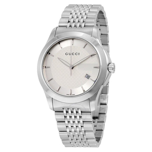 daeaf068ab4 Gucci Women s YA126401 G-Timeless Stainless Steel Watch