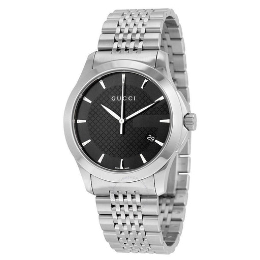 Gucci Men's YA126402 G-Timeless Medium Stainless Steel Watch