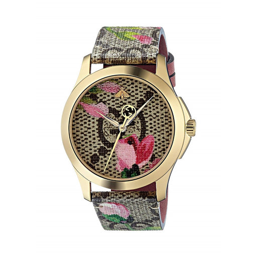 Gucci Women's YA1264038 G-Timeless Multicolored Canvas Watch