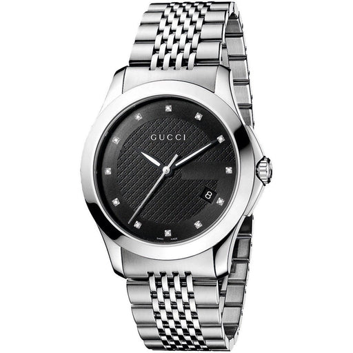 aaf586c0809 Gucci Women s YA126405 G-Timeless Diamond Stainless Steel Watch