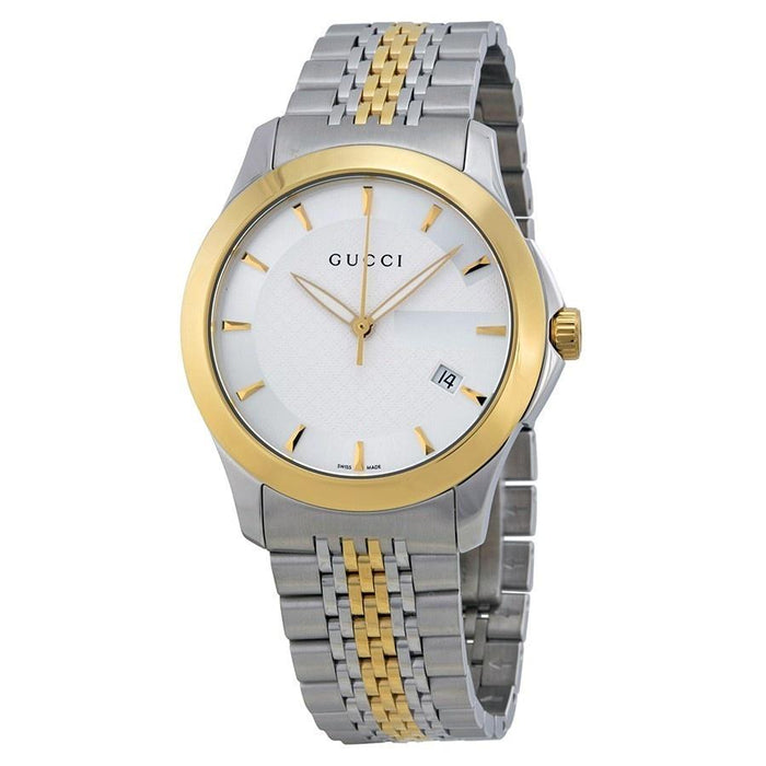 Gucci Men's YA126409 G-Timeless Two-Tone Stainless Steel Watch