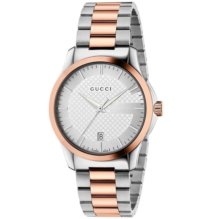 Gucci Women's YA126447 G-Timeless Two-tone Stainless Steel Watch