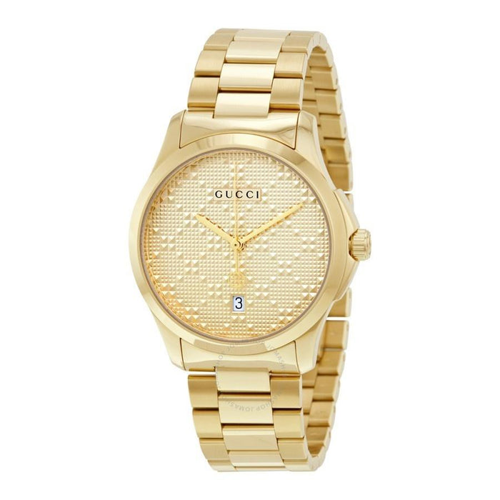 Gucci Unisex YA126461 G-Timeless Gold-Tone Stainless Steel Watch