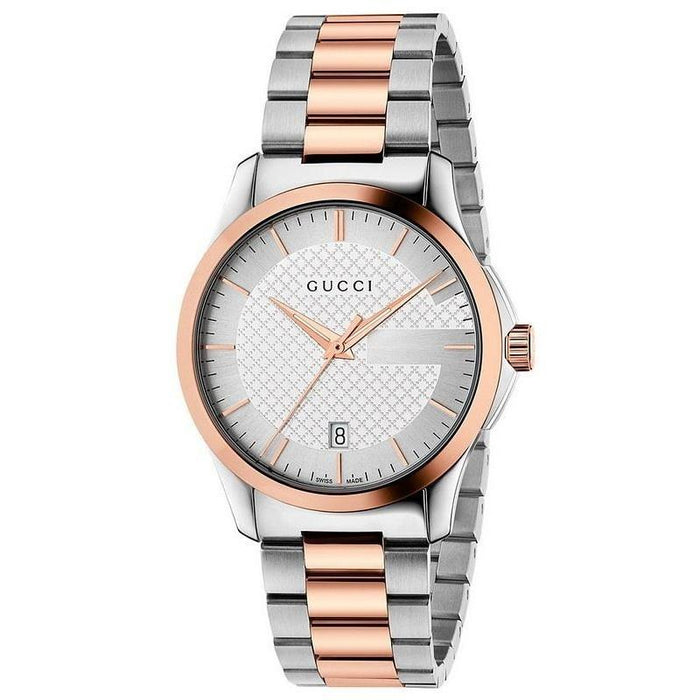 Gucci Women's YA126473 G-Timeless Two-Tone Stainless Steel Watch
