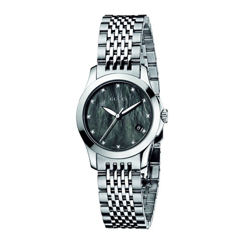 Gucci Women's YA126505 G-Timeless Diamond Stainless Steel Watch