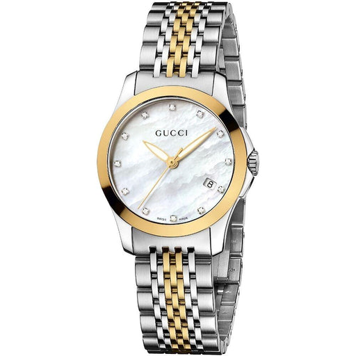 Gucci Women's YA126513 G- Timeless Diamond Two-Tone Stainless Steel Watch