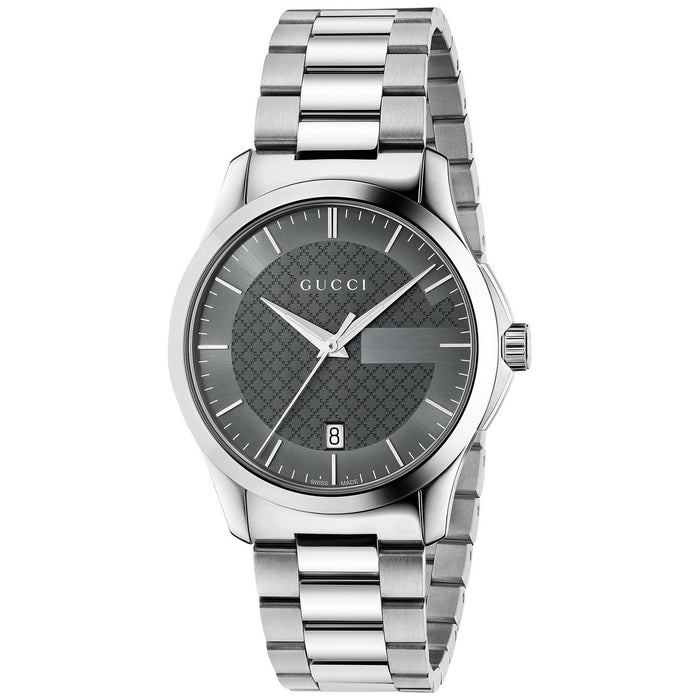 Gucci Unisex YA126522 G-Timeless Stainless Steel Watch