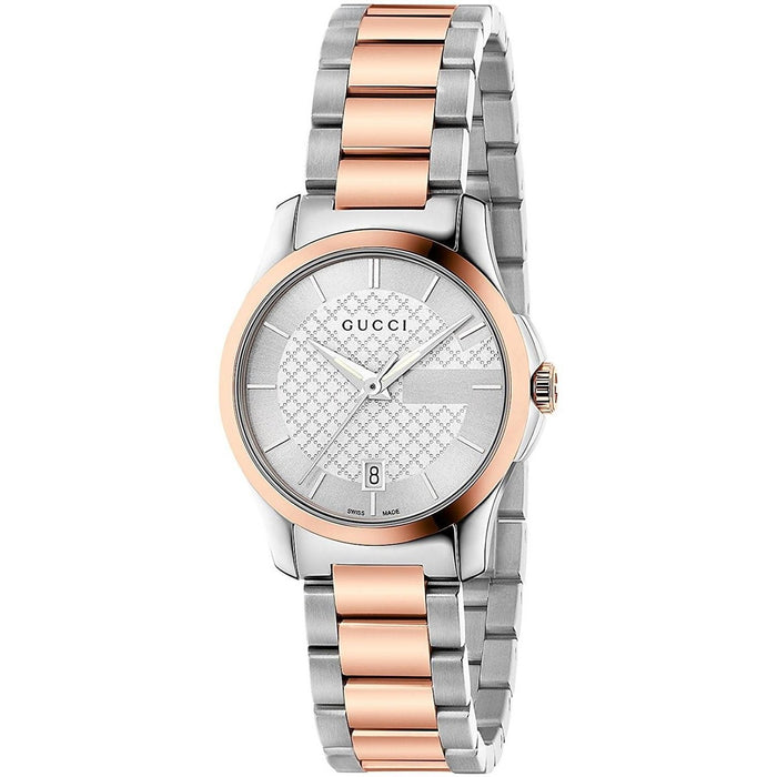 Gucci Women's YA126528 G-Timeless Two-Tone Stainless Steel Watch