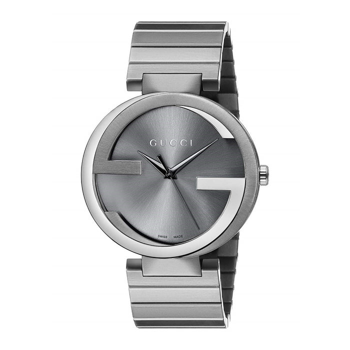 Gucci Men's YA133210 Interlocking G Grey Stainless Steel Watch