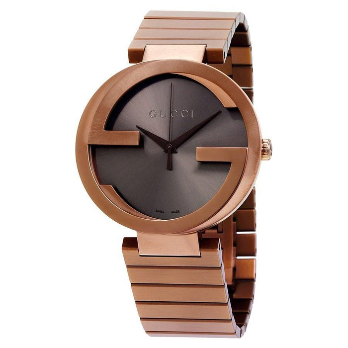 Gucci Women's YA133211 Interlocking-G XL Brown Stainless Steel Watch