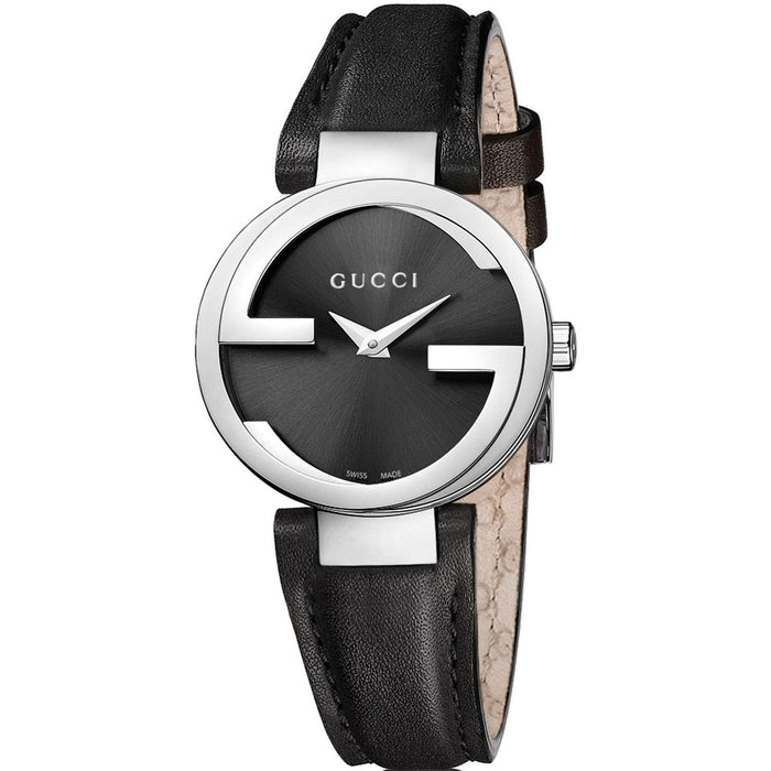 Gucci Women's YA133501 Interlocking-G Black Stainless Steel Watch