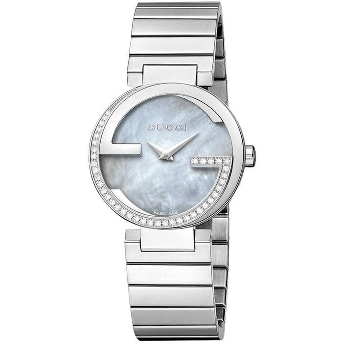 Gucci Women's YA133509 Interlocking-G Diamond Stainless Steel Watch