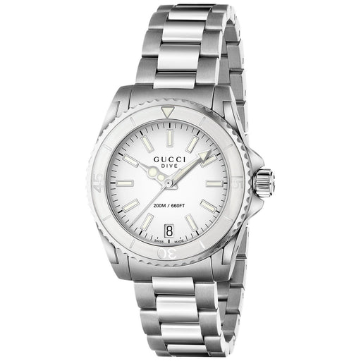 219a6f28016 Gucci Women s YA136402 Dive Stainless Steel Watch