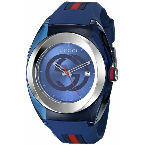 Gucci Unisex YA137104 Sync Two-Tone Silicone Watch