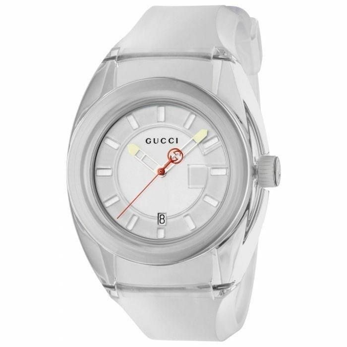Gucci Men's YA137110 Sync White Rubber Watch