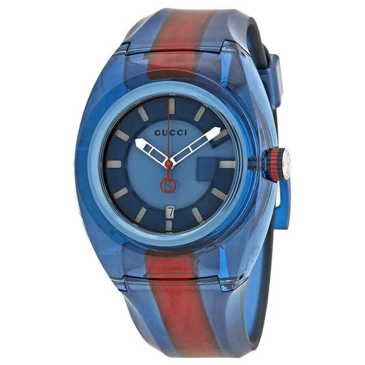 Gucci Men's YA137112 Sync XL Two-Tone Rubber Watch