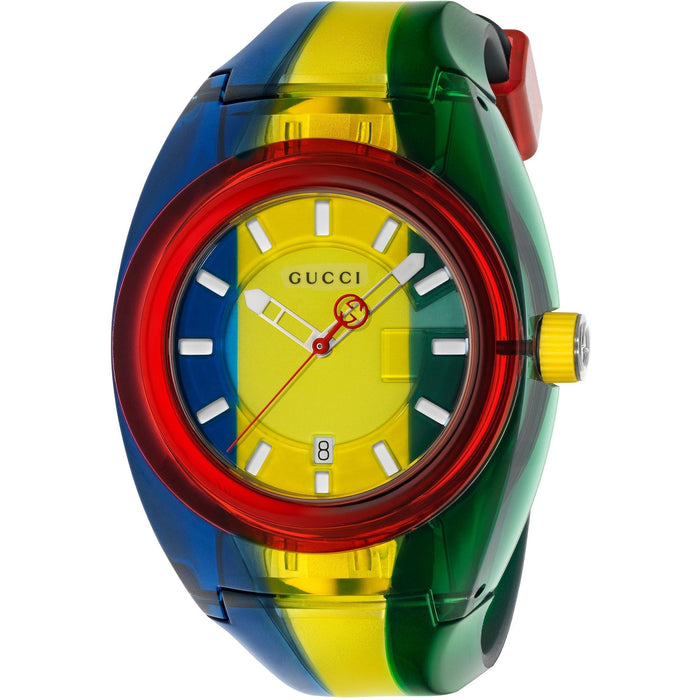 Gucci Women's YA137114 Sync Multicolored Rubber Watch