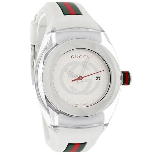 Gucci Women's YA137302 Sync Two-Tone Rubber Watch