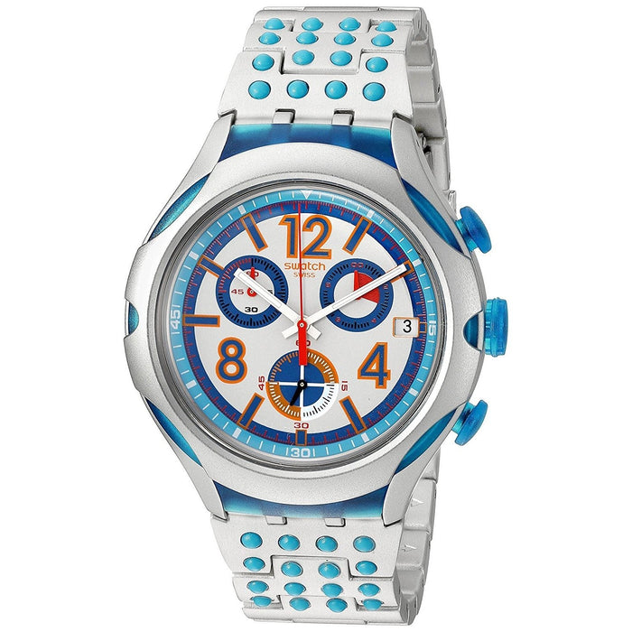 Swatch Unisex YYS4007AG Irony Xlite 16 Dots Chronograph Stainless Steel Watch