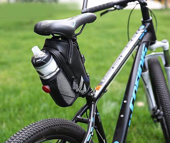 ROSWHEEL Bicycle Rainproof Bottle Holder Bag With Taillight
