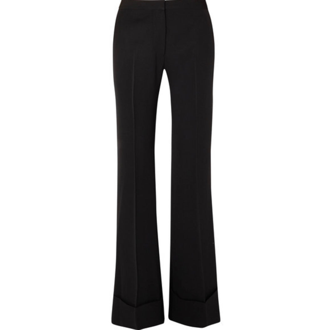 Stella McCartney - High-rise Wool Flared Pants - Black