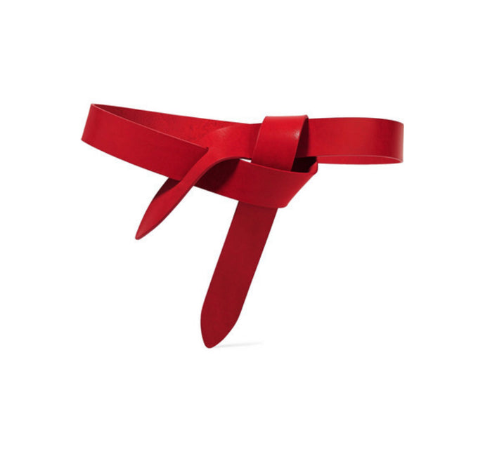 Isabel Marant - Lecce Leather Belt - Red