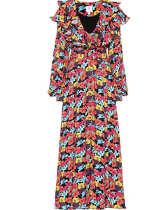 GÜL HÜRGEL Floral printed maxi dress