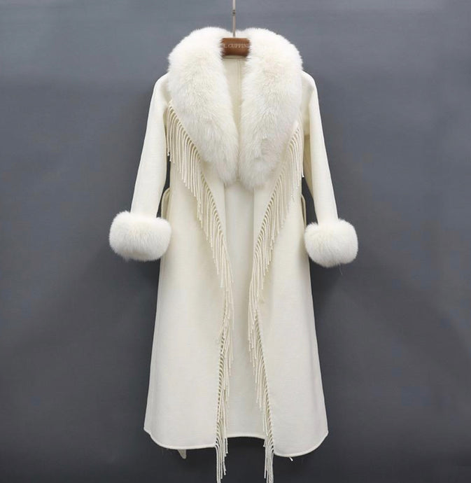 L.Cuppini Cashmere - Wool Fringe Coat