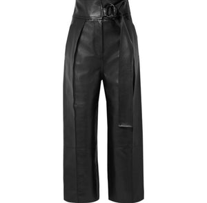 Petar Petrov - Haena Leather Wide-leg Pants - Black