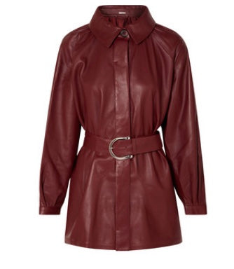 DODO BAR OR Belted leather shirt