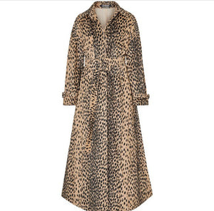JACQUEMUS Thika belted leopard-print cotton-blend trench coat