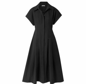 THREE GRACES Alette Cotton Poplin Midi Dress