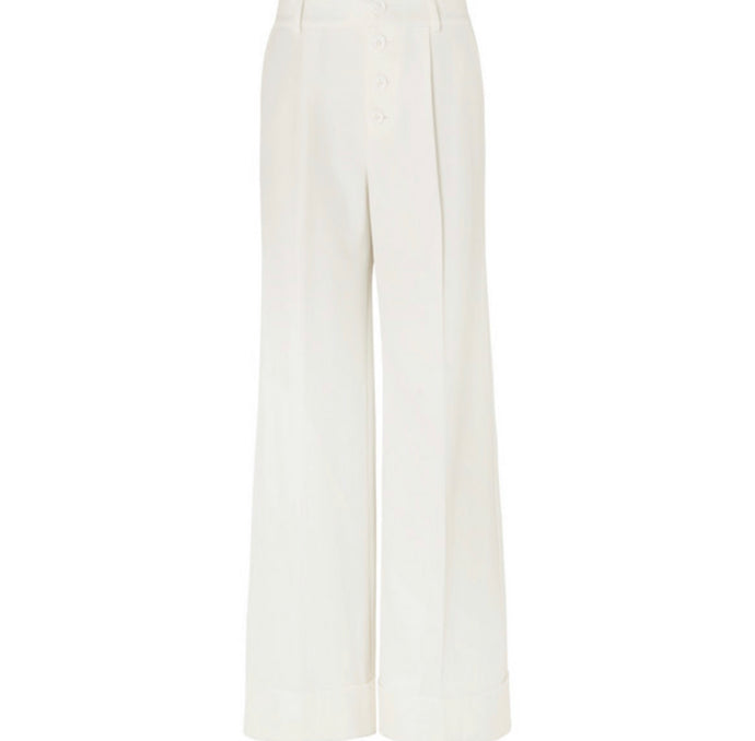 Alice + Olivia - Tomasa Crepe Wide-leg Pants - White