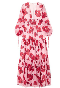 BORGO DE NOR Freya floral-print silk-georgette maxi dress