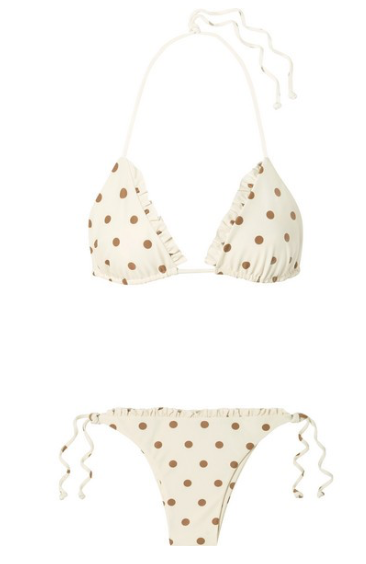 FAITHFULL THE BRAND Corsica and Opatiua ruffled polka-dot bikini