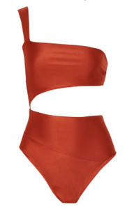 HAIGHT One-shoulder cutout swimsuit