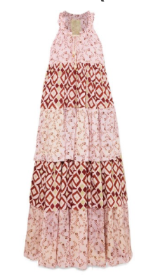 YVONNE S Hippy tiered printed cotton-voile maxi dress