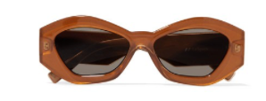 LE SPECS The Ginchiest hexagon-frame acetate sunglasse