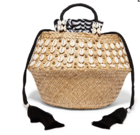 AQUAZZURA Le Ninè Riviera large tasseled embellished raffia and canvas totes