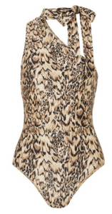 ZIMMERMANN Eyes on Summer one-shoulder leopard-print swimsuit