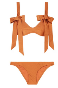 ZIMMERMANN Veneto bow-detailed metallic bikini
