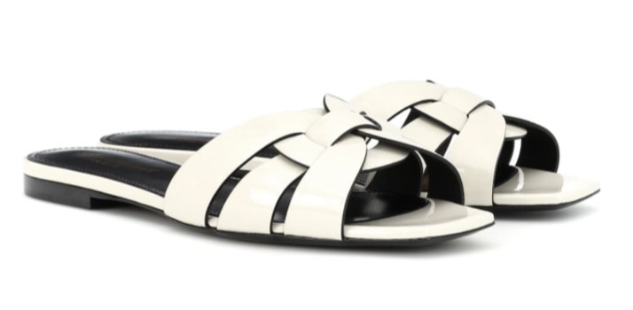 SAINT LAURENT Nu Pieds 05 patent leather sandal